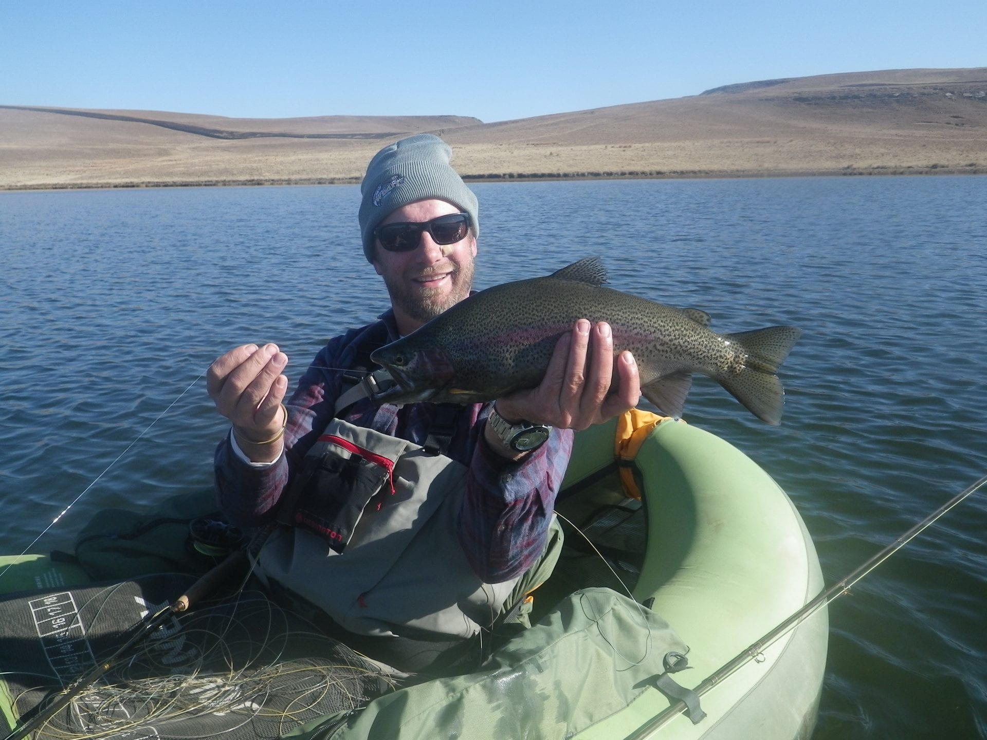 Float tubing for monster trout july 2015 xplorer fly for Best fly fishing raft